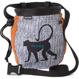 Prana Graphic Chalk Bag with Belt russet monkey